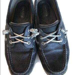 Sperry blue leather 7.5 ladies topsiders